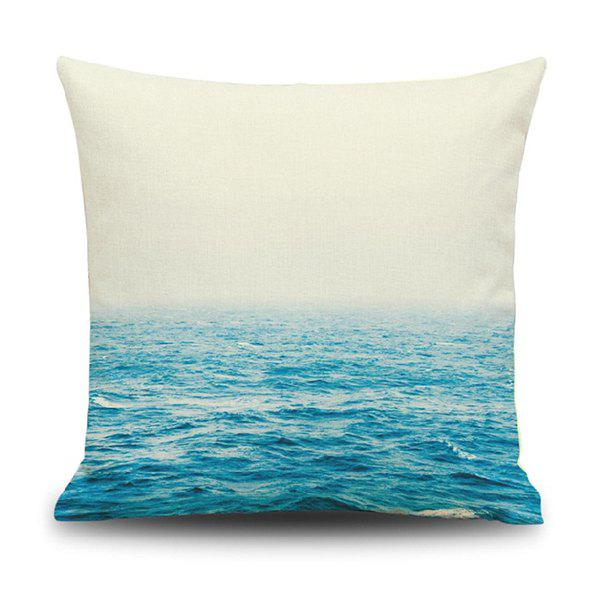 Square Ocean Pattern Home Decoration Pillow Case - BLUE/WHITE