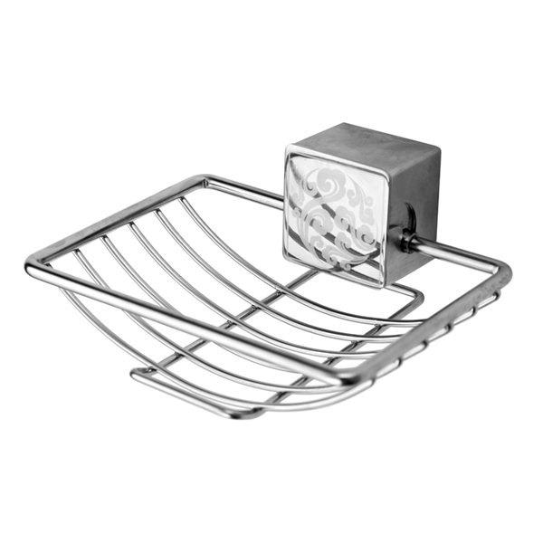 Bathroom Stainless Steel  Wall Hanger Soap Rack - SILVER