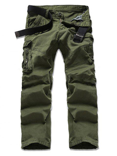 Pantalon Multi-Pocket design Zipper Fly Cargo - Vert Armée 30