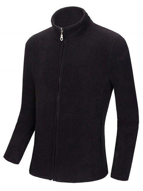 Zip Up Stand Col Polaire Sweatshirts - Noir M