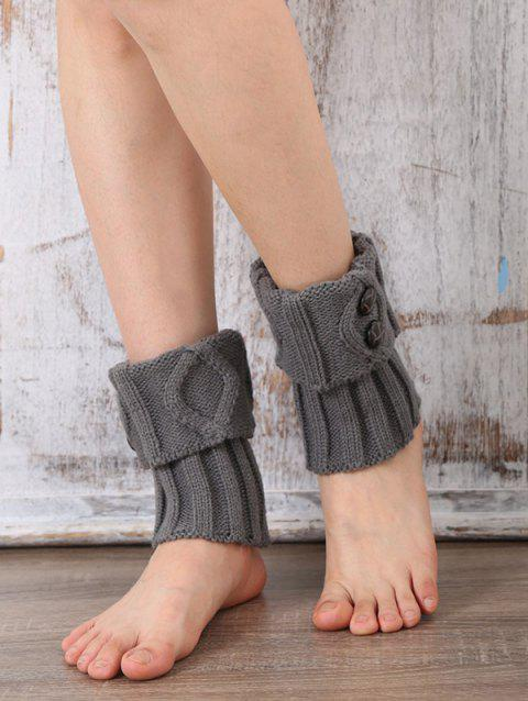 Boutons chauds Rhombus Flanging Boot Manchettes - Gris Clair