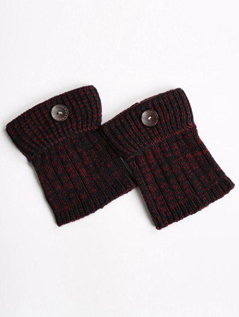 Boutons chauds Yoga Tricoter Poignets Boot - Vin rouge