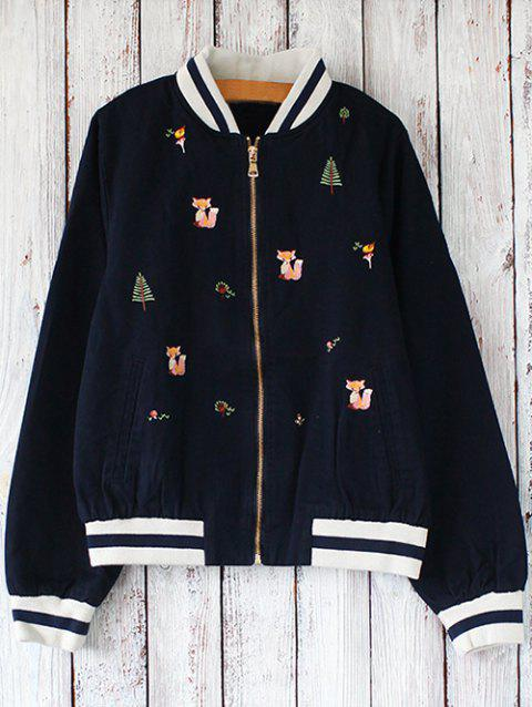 Brodé avant Baseball Jacket - Cadetblue ONE SIZE
