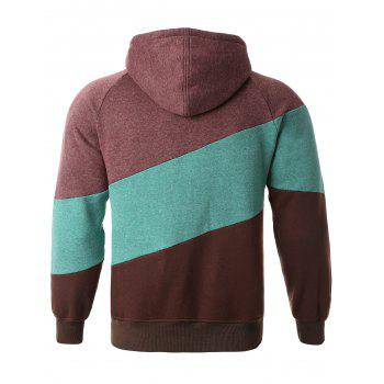 Drawstring capuche couleur Splicing Hoodie - multicolorcolore S