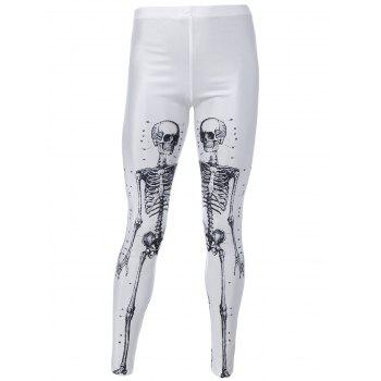 Skeleton Print Stretchy Hallowmas Leggings