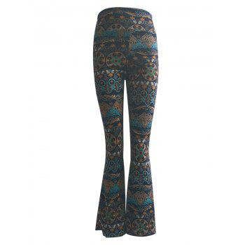 High Waist Tribal Print Trumpet Pants