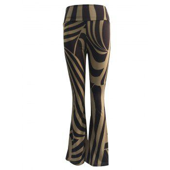 High Waist Two-Toned Trumpet Pants