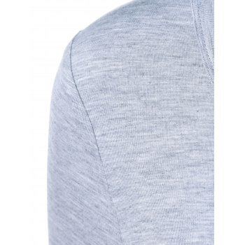 Leopard One Pocket Arc-Shaped Hem T-Shirt - LIGHT GRAY LIGHT GRAY