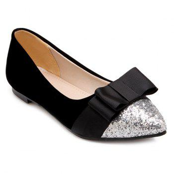 Bow Chaussures Glitter Color Block Flat