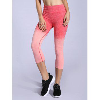 Stretchy Ombre Space-Dyed Sporty Leggings