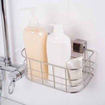 Wall Hanger Stainless Steel Storage Basket - SILVER SILVER
