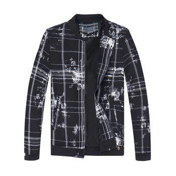 Splatter Paint and Checked Print Jacket