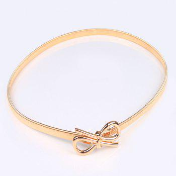Bowknot Filigree Polished Flat Belly Chain -  GOLDEN