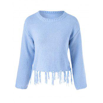Fringed Long Sleeve Pullover Knitwear