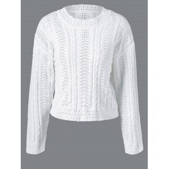Long Sleeve Pullover Cable Knitwear