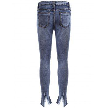 Jean Crayon Fortement Usé Style BF - [