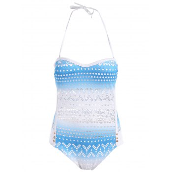 Halter Openwork Bandeau One Piece Swimsuit
