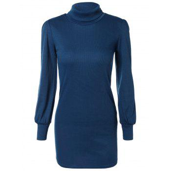Skinny Turtleneck Mini Sweater Dress