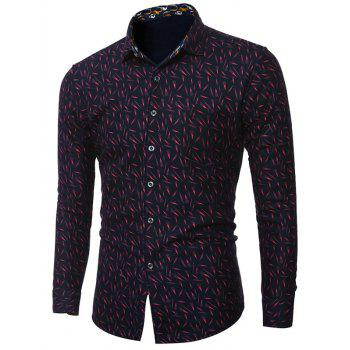 Plus Size Long Sleeve Print Shirt