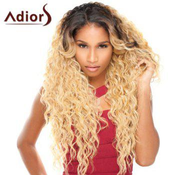Double Color Long Side Parting Curly Adiors Synthetic Wig