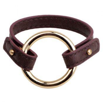 Circle Faux Leather Bracelet