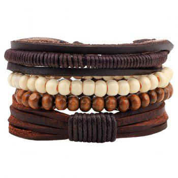 Faux Leather Bead Bracelets