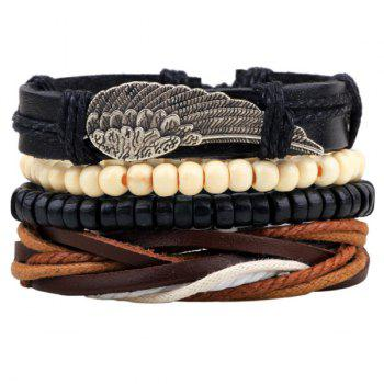 Wing Faux Leather Bracelets