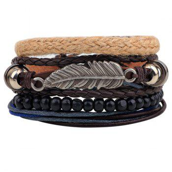 Feather Bead Braided Bracelets