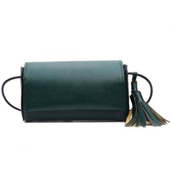 Concise Tassel PU Leather Crossbody Bag