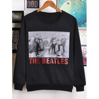 Round Neck Beatles Printed Graphic Vintage Sweatshirts