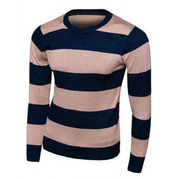 Long Sleeve Striped Crew Neck Knitwear