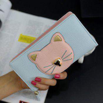 Tassel Cat Head Motif Clutch Wallet