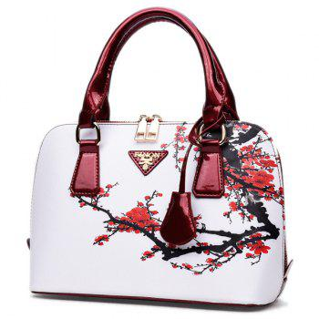Wintersweet Printed Handbag - RED