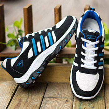 Suede Colour Block Lace-Up Athletic Shoes - BLUE/BLACK BLUE/BLACK