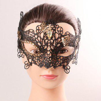 Mystical Half Face Lace Hollow Out Butterfly Rhinestone Masquerade Masks