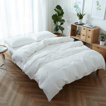 Washable Soft Cotton Fitted Sheet 4PCS Bedding Set
