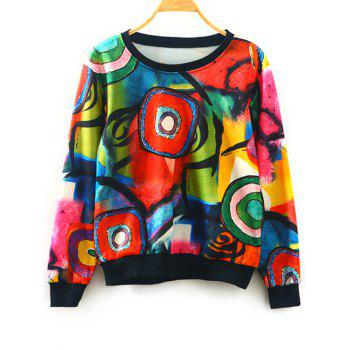 Abstract Print Pullover Sweatshirt