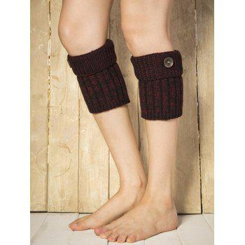 Boutons chauds Yoga Tricoter Poignets Boot - Rouge vineux