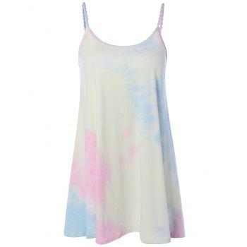 Tie-Dyed Mini Summer Dress