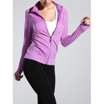 Space-Dyed Zip Slim Sporty Running Jacket