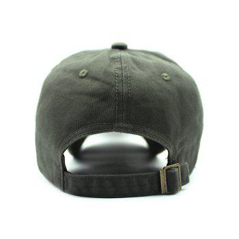 Casual Shield Embroidery Baseball Hat - ARMY GREEN