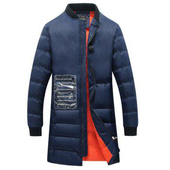 Rib Cuff Zip Up Quilted Coat