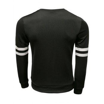 New York Varsity rayé Sweat ras du cou - Noir XL