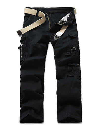 Pantalon Multi-Pocket design Zipper Fly Cargo - Noir 29