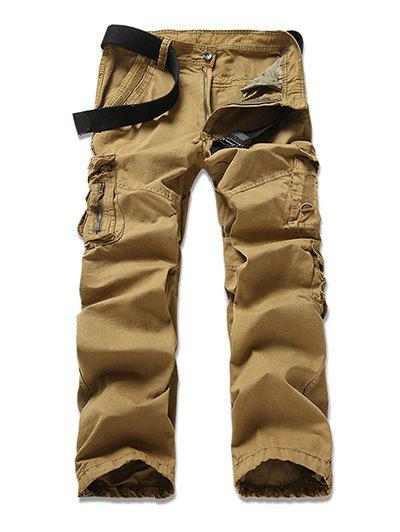 Pantalon Multi-Pocket design Zipper Fly Cargo - Kaki 32