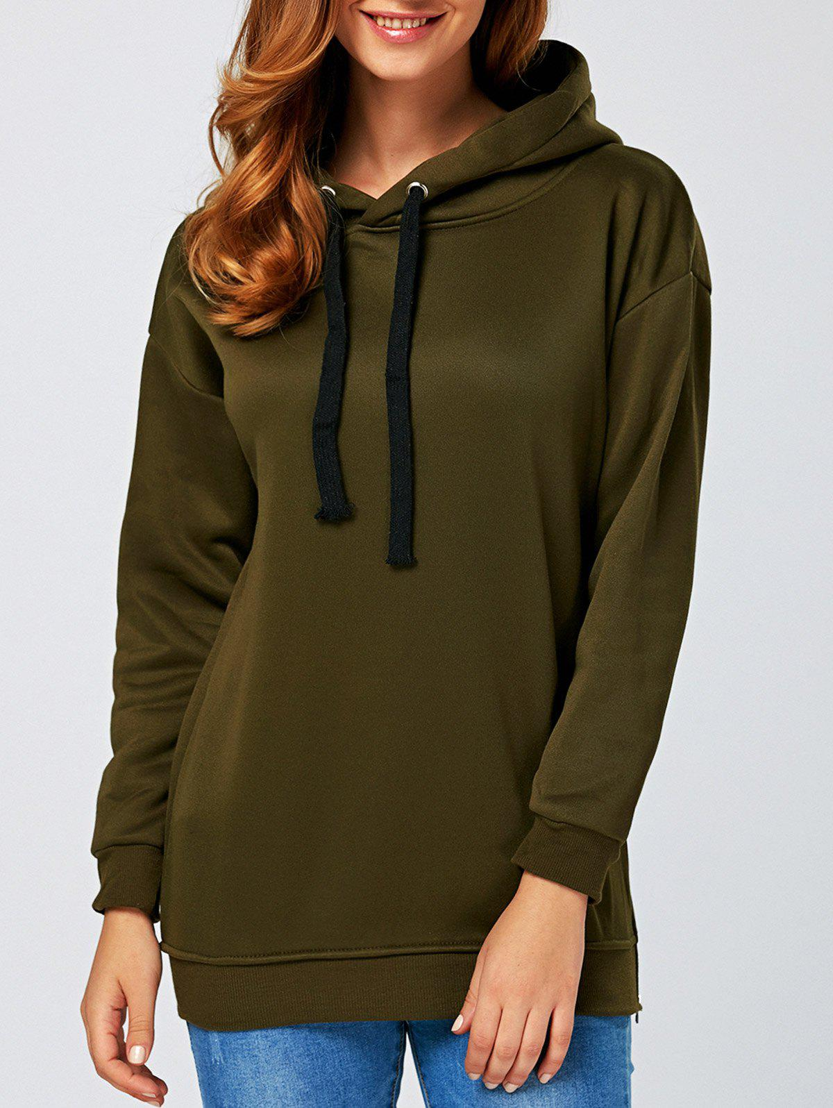 String Thickening HoodieWomen<br><br><br>Size: M<br>Color: ARMY GREEN