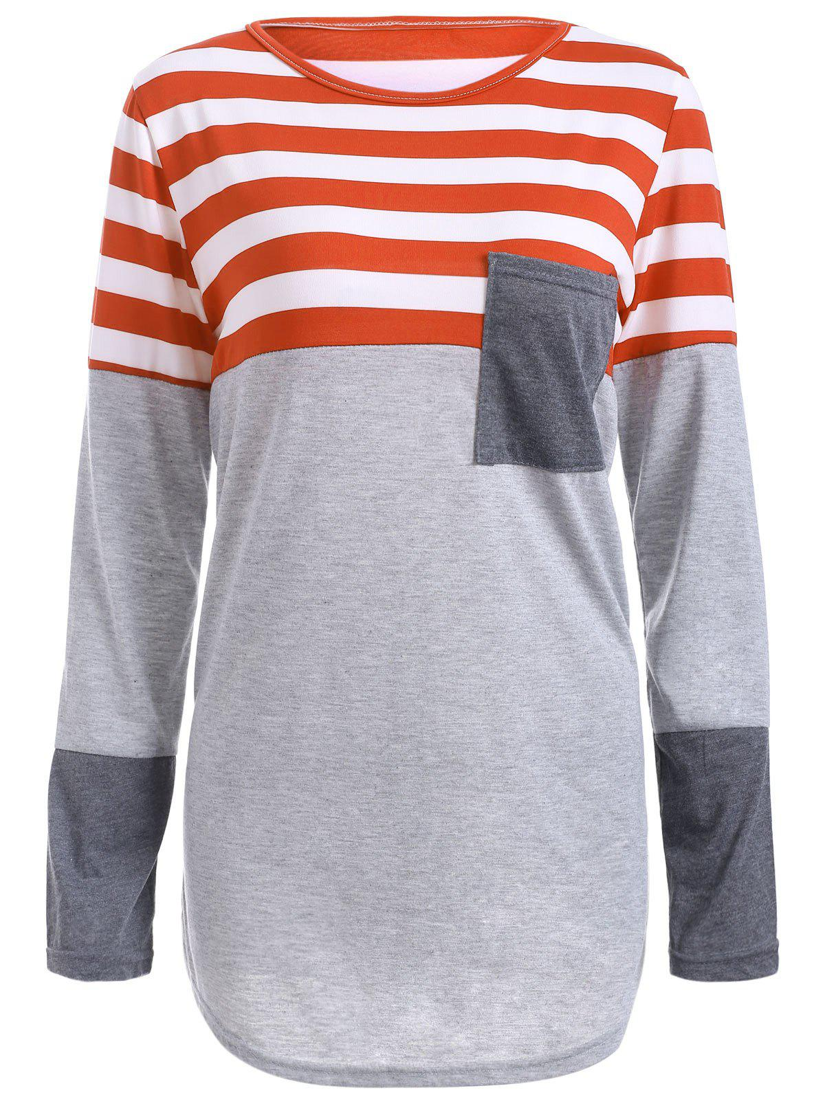 Striped Pocket Tunic T-Shirt от Dresslily.com INT