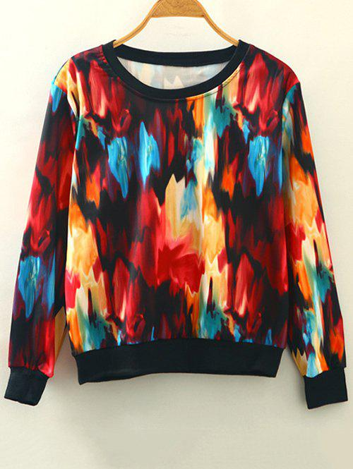 Buy Tie-Dye Pullover Sweatshirt RED