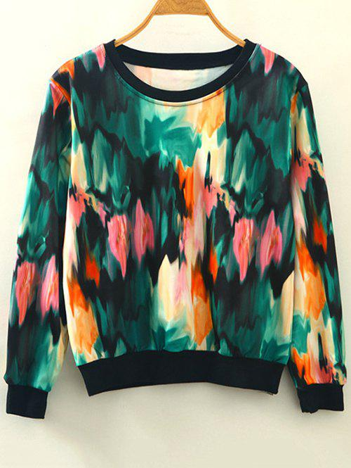 Buy Tie-Dye Pullover Sweatshirt GREEN