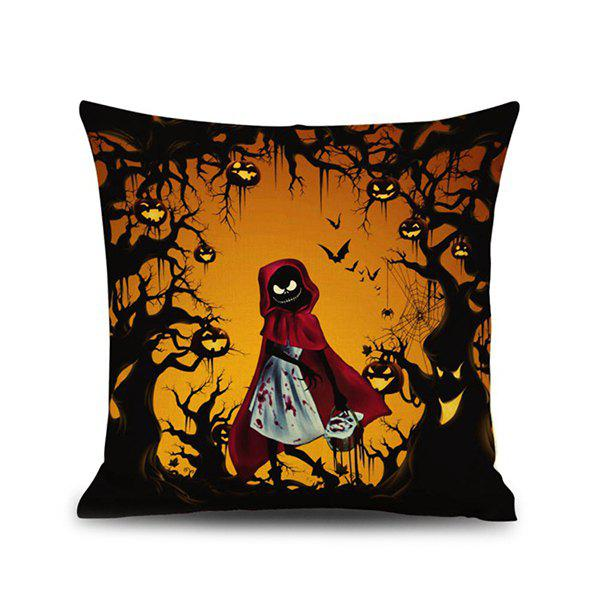 Horrored Night Ghost Pattern Halloween Pillow Case